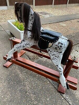 Wooden Rocking Horse Traditional Grey  • 250£