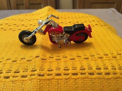 Matchbox Harley Davidson Chopper Motorcycle No.50 In Red • 1£