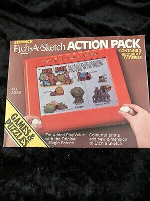 Ultra Rare Etch A Sketch Action Pack 1981 • 25£