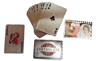 Waterproof Plastic Playing Cards Deck Of PVC Poker Card Creative Party Game Gift • 3.99£