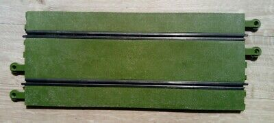 Scalextric Classic Track Standard 3 Full Straights - Green Surface - C160 • 4.95£