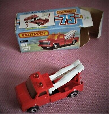 Matchbox Superfast 61 Wreck Truck -  Boxed White Booms • 20£