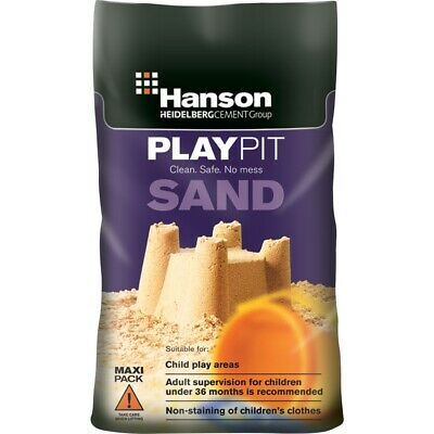 25kg Children Toy Play Pit Sand Silica Non Clothes Staining 25kg Clean Safe • 10.99£