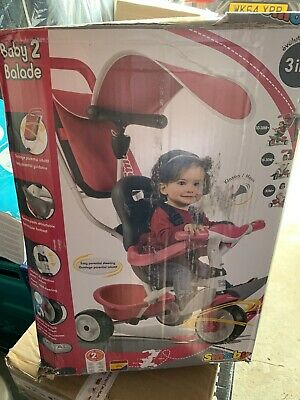 New SMOBY 3 In 1 Baby To Balade TRIKE (10 Months - 3 Years) In Pink RRP£99.99 • 55£