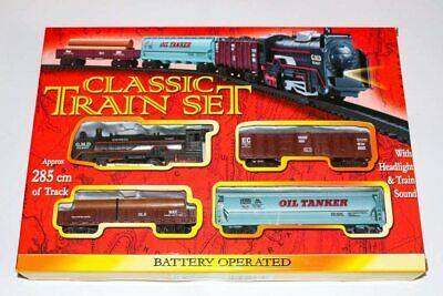 CLASSIC TRAIN SET Battery Operated With Lights & Train Sounds Kids Gift XMAS  • 7.29£
