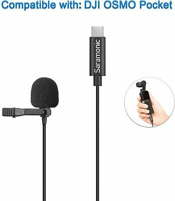Vlog Microphone Clip-on Lapel Mic USB Type-C Compatible For DJI OSMO Pocket • 30.93£