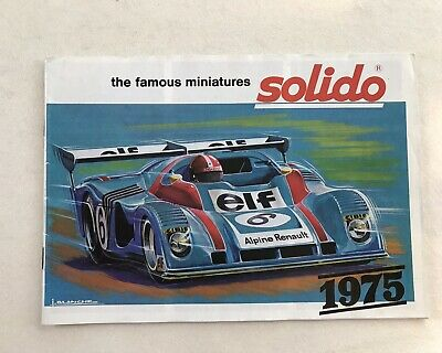 Solido Die Cast Model Car Catalogue. Original 1975 • 4.99£