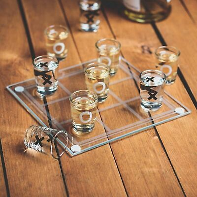 Tic Tac Toe DRINKING GAME Noughts And Crosses Family Shot Glasses Adult Fun Xmas • 6.49£