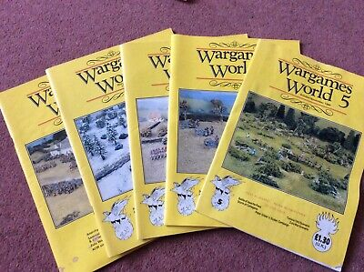 Wargames World Magazine, All 5 Issues, Including Gilder's Sudan Campaign • 5£