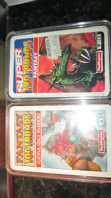 Vintage Top Trumps Fantasy Rare And Aliens And Space Warriors  • 24.99£