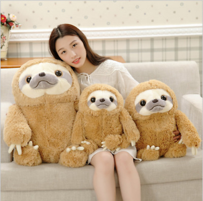 UK Cute Giant Sloth Stuffed Plush Toys Pillow Cushion Gifts Animal Doll  Soft • 10.89£