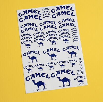 RC 10th 1/10 Scale CAMEL 4x4 Sponsor Stickers Decals RALLY F1 ROCK CRAWLER DRIFT • 10.95£