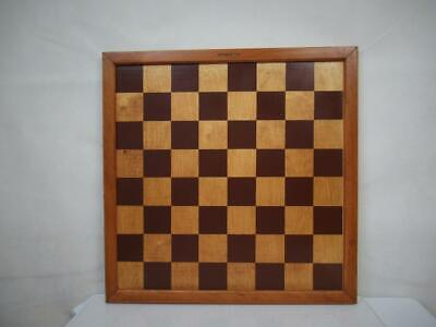 VINTAGE JAQUES LONDON CHESS BOARD  45 Cm SQUARES OF 50 Mm NO PIECES • 175.99£