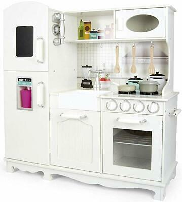 Large Wooden Toy Kitchen With Accessories, Pots And Pans • 109.99£