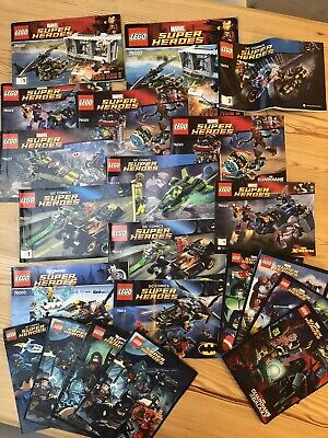 LEGO Instructions Manuals Set Of 13 Bundle Marvel & DC Super Heroes • 6£