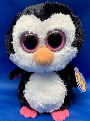 """TY Beanie BOO - PADDLES The Penguin 6"""" RARE Soft PLUSH Toy Retired 2013 • 19.90£"""