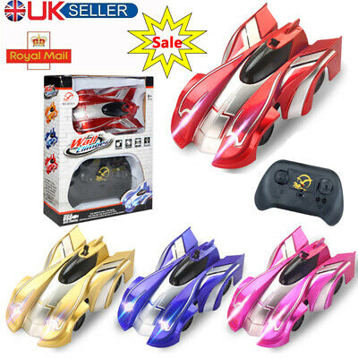 Powerful Wall Climbing Remote Control Racing Car Radio Controlled Stunt Kids Toy • 8.99£