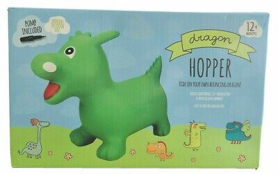 Children's Kids' Dragon Hopper Bouncer Ride On Inflatable Jumping Bouncing Toy • 17.99£