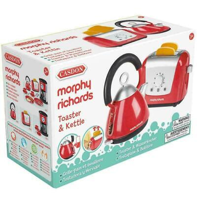 Casdon Little Cook Morphy Richards Red Replica Kitchen Toaster & Kettle Set Toy • 11.45£