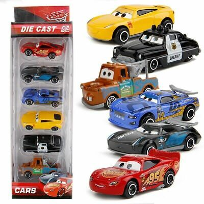 6X Disney Pixar Cars 3 Lightning McQueen Racer Car Kids Toy Collection Set Boxed • 9.99£