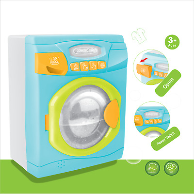 Kids Pretend Play Washing Machine With Effects Kids Toys • 14.99£