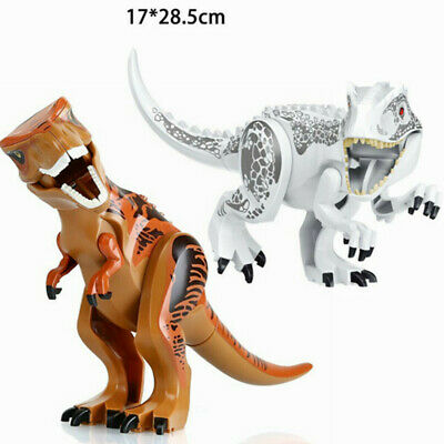 2Pcs Large Dinosaur Figure Big Size Indominus T Rex Blocks Fit Lego Toys Gift • 9.97£