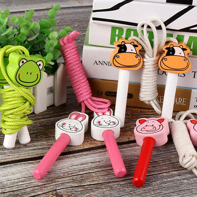 Children Animal Wooden Handled Training Jumping Rope Skipping Outdoor Indoor PF1 • 3.27£