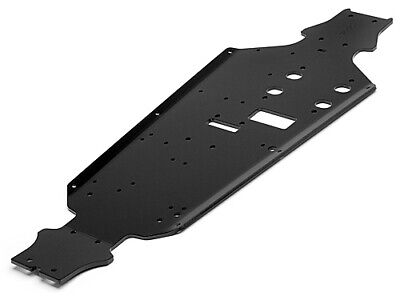 HPI SPARES Alum. Anodized Chassis 7075 3mm Black (Trophy Buggy) (HPI8) • 59.94£