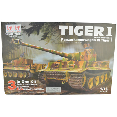 SELF ASSEMBLY TAIGEN TIGER 1 RC TANK KIT 1/16 Scale • 269.95£