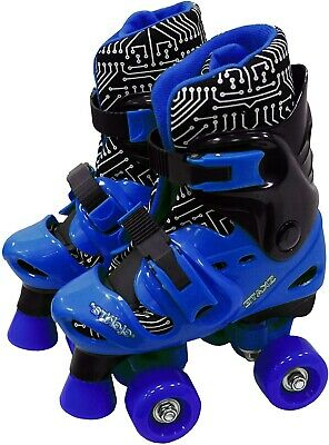 Elektra Quad Boot Adjustable Medium Black & Blue 13j-2 - Skates • 29.99£