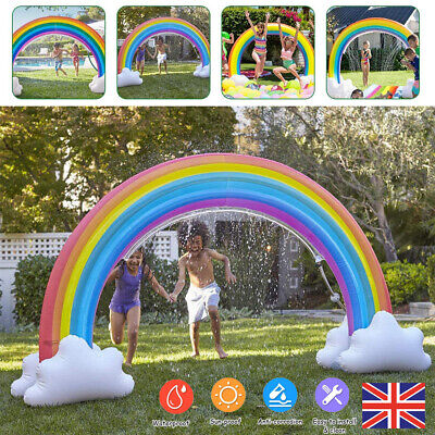 280CM Inflatable Water Sprinkler Summer Kids Rainbow Arch Pool Beach Toy Outdoor • 17.99£