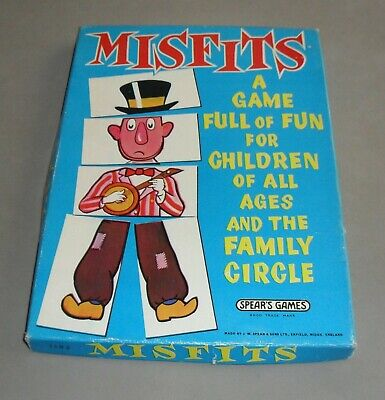Misfits People Matching Spears Family Board Game 1964 COMPLETE VGC RARE • 14.99£