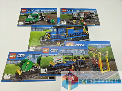 ⭐️LEGO CITY 60052 CARGO TRAIN - 6 X INSTRUCTIONS ONLY - NEW⭐️ • 8.99£