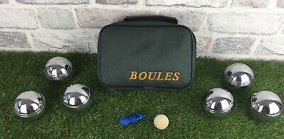 Boules Set 6 With Carry Case Small Ball And String Good Pre Owned Condition • 19.99£