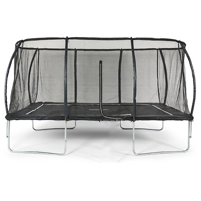 Big Air Extreme 10x14ft Rectangular Trampoline With Safety Enclosue • 399.95£
