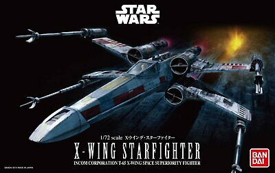Bandai Hobby Star Wars X-Wing Starfighter 1/72 Scale Model Kit • 22.32£
