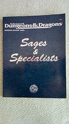 Advanced Dungeons & Dragons  2nd Edition - Sages & Specialists. VG Condition. • 38£