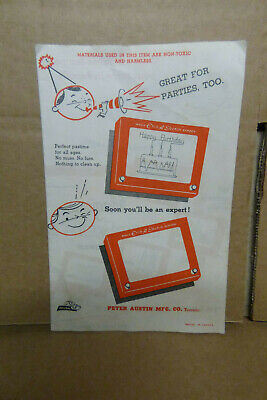 Vintage Etch A Sketch Brochure PAM N ANDY Canada • 9£