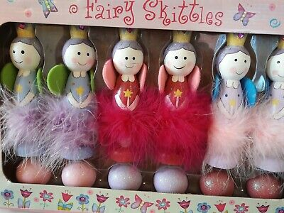 Beautiful Wooden Toy Fairy Skittles By Lucy Locket • 0.99£