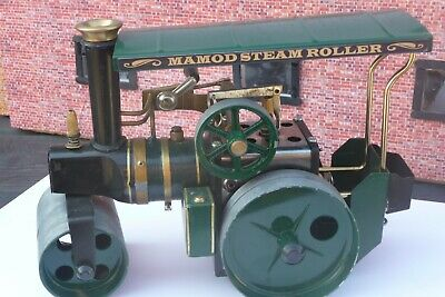 Mamod Steam Roller Dark Green With Canopy, Coal Scuttle And Belly Tank  • 92£