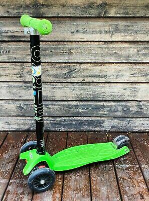 Microscooter Maxi Micro Scooter Green / Black 50to 12 Year Old • 10.50£
