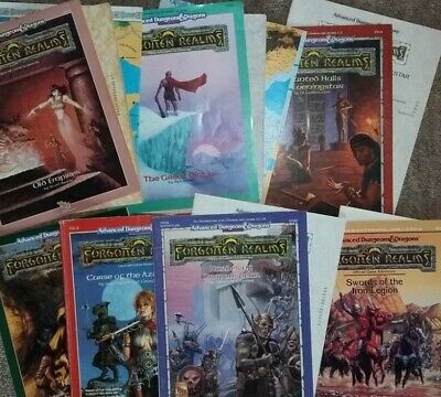 AD&D 1/2e Forgotten Realms Bundle Of Supplements And Modules • 50£