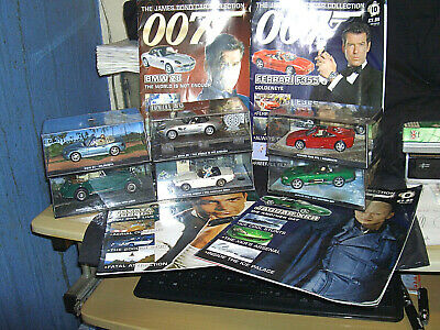 Vintage Job Lot James Bond 007 Boxed Cars Some With Original Magazines • 10.01£