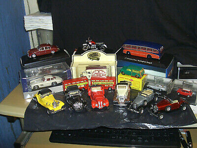 Vintage Job Lot Matchbox Buses/dinky/other Boxed/unboxed Cars/motorbike Etc • 0.99£