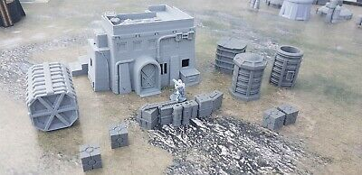 Star Wars Legion Terrain Large House With Steps Plus Container And Scatter S1 • 32.99£