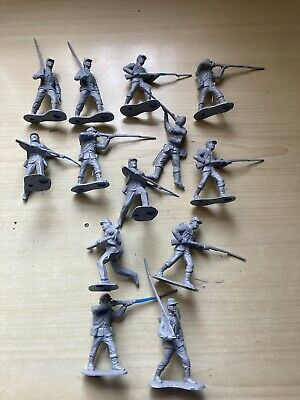 MARX ACW FIGURES X 13  READY TO PAINT  54mm  SCALE   • 15£