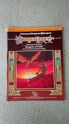 AD&D Dragonlance - Dragons Of Faith Module. DL12. VG. Complete / Unpunched! • 25£