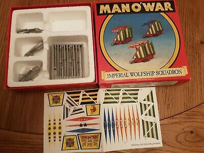 Warhammer Man O War Imperial Wolfship Squadron  ×3 + Box Games Workshop • 20£
