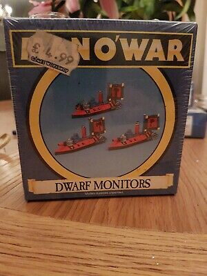 Warhammer Man O War Dwarf Monitors X 3 • 20£