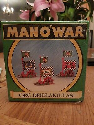 Warhammer Man O War Orc Drillakillas ×3 + Box Games Workshop • 20£